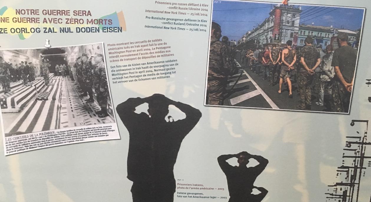 """Détail d'un des panneaux de l'exposition """"Propagande de guerre""""."""
