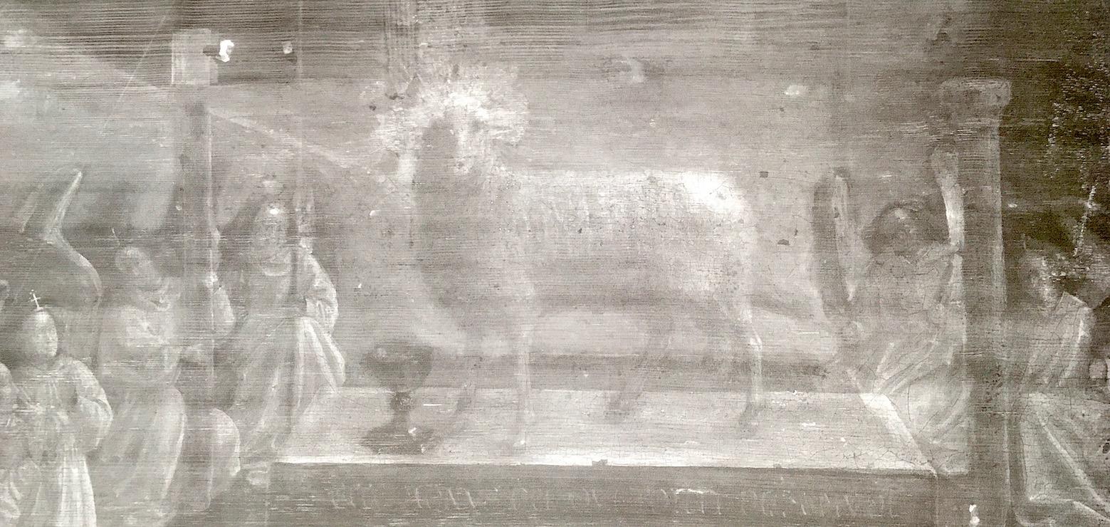 L'Agneau mystique a notamment été étudié par rayons X. © CDB